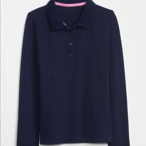 *3 Navy* Gap Kids Uniform Long Sleeve Polo Shirt